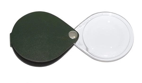 Eschenbach Folding Round Hand Magnifier with Leather Case 3.5x