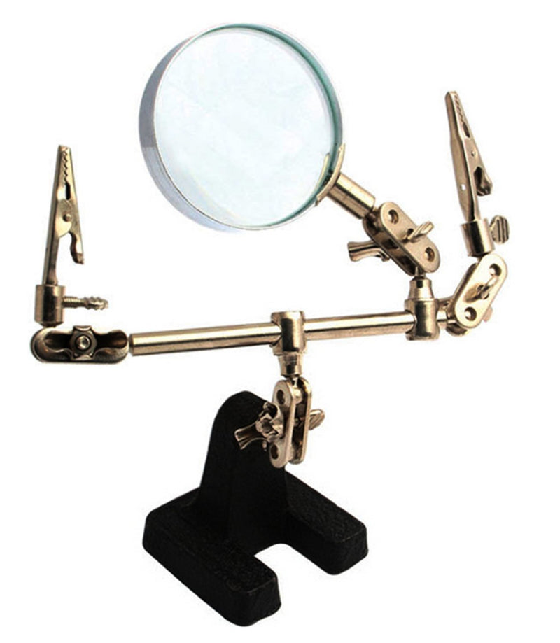 JZK Stand Magnifier with Crocodile Clips (8x)