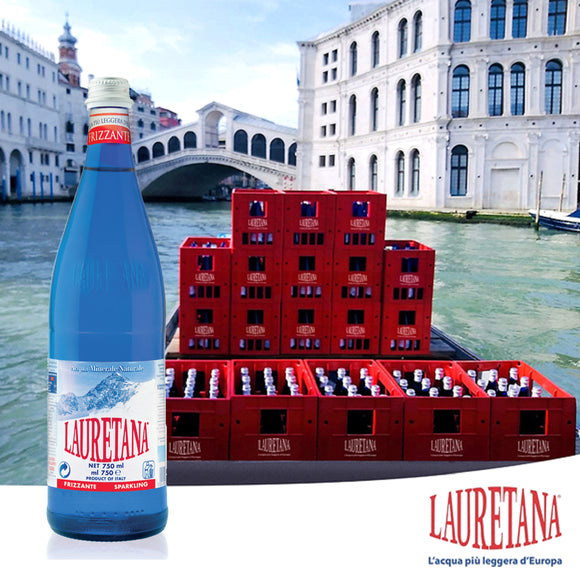 Sodium Free Aqua Lauretana Sparkling Water Carton 6 x750ml