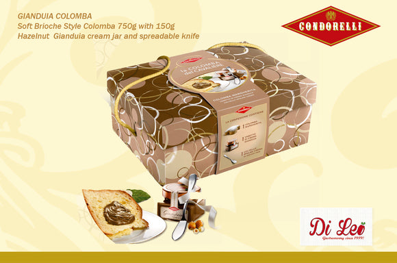 Colomba 750g with Giandiua Cream 150g and Spreadable Knife