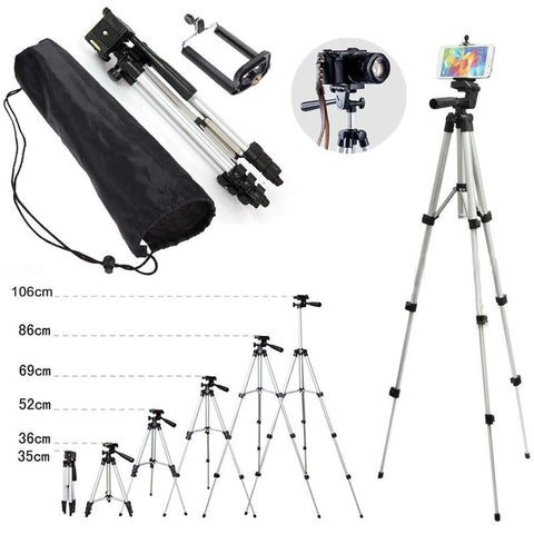 Camera Tripod Classic Compact Sizes Presentation