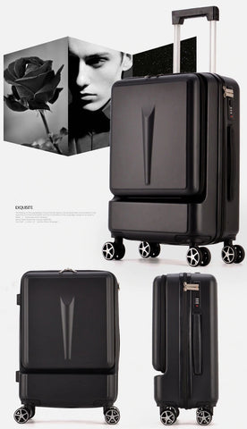 Carry on Luggage Hand Shell Compact Black Visual