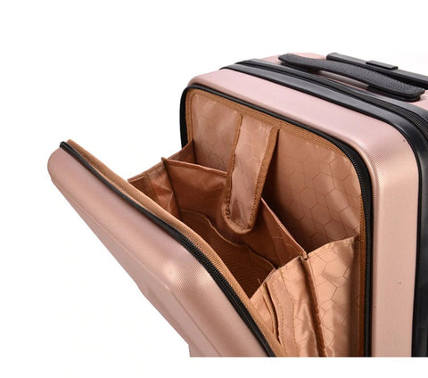 Carry on Luggage Hand Shell Compact Open Detail