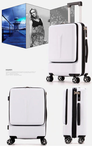 Carry on Luggage Hand Shell Compact White Visual