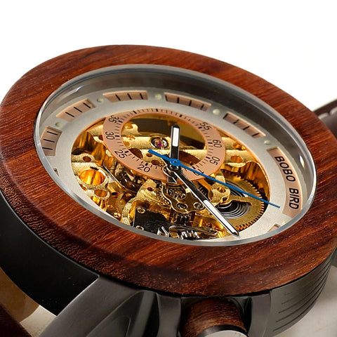 Classy Wood Watch Mechanic Senior Big Zoom