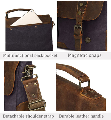 Messenger Bag Leather Elegant Professor Details