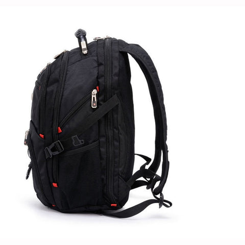 Swiss Travel Laptop Backpack Side View