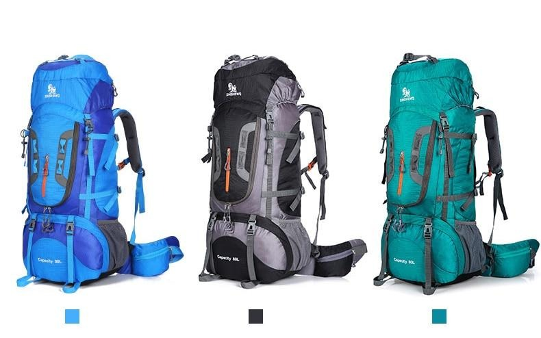 80L Big Outdoor Hiking Backpack
