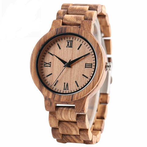 Casual Wood Watch | Nature Bamboo
