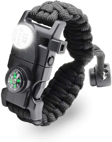 Multi Functional Compass Flashlight Bracelet