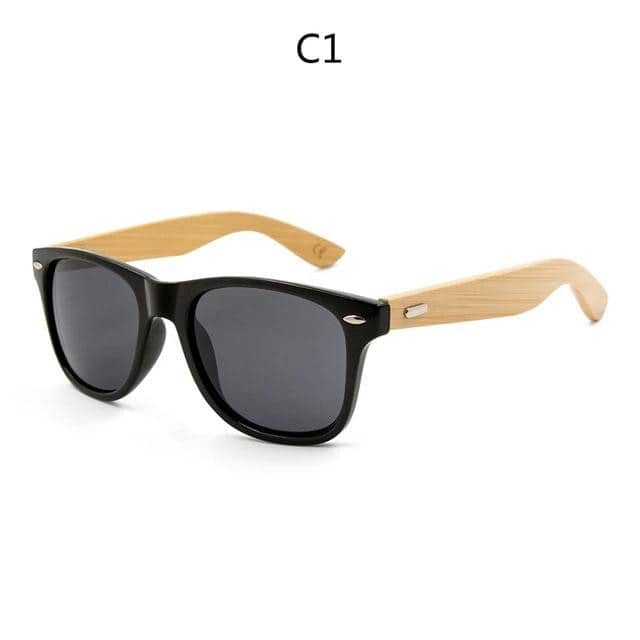 Retro Wood Sunglasses Sport Design - Retro Wood Sunglasses Sport Design - Getappy