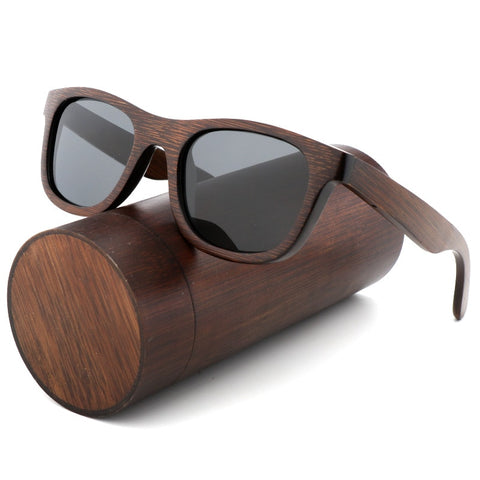 Brown Wooden Polarized Luxury Sunglasses