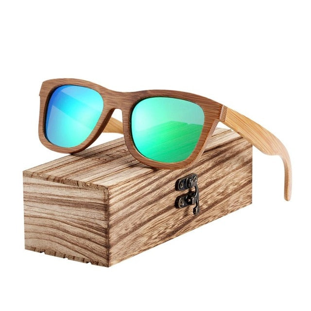 Polarized Bamboo Sunglasses and WoodBox