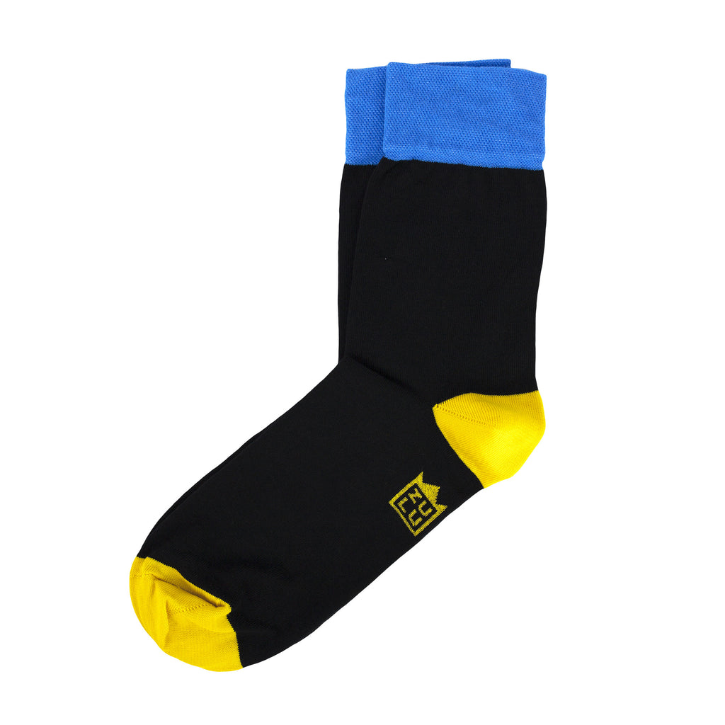 Black Blue Yellow socks