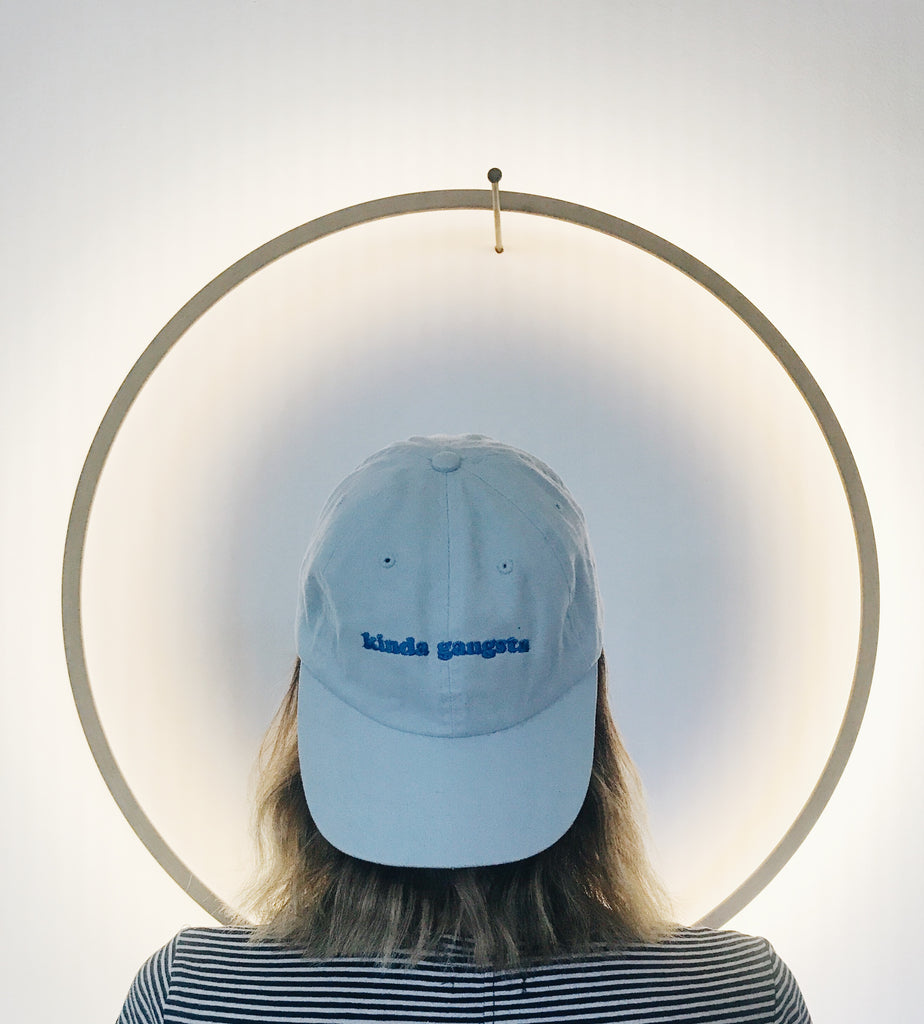 Kinda gangsta 6-panel embroidery cap in Light Blue