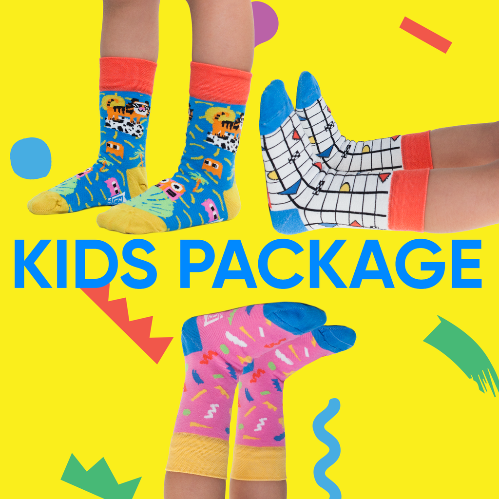 Kids socks package of three