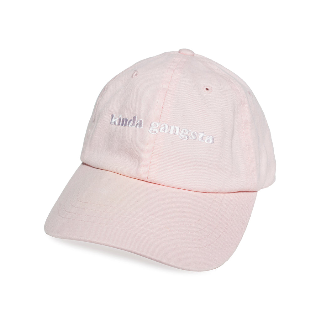Kinda gangsta 6-panel embroidery cap - Light Pink