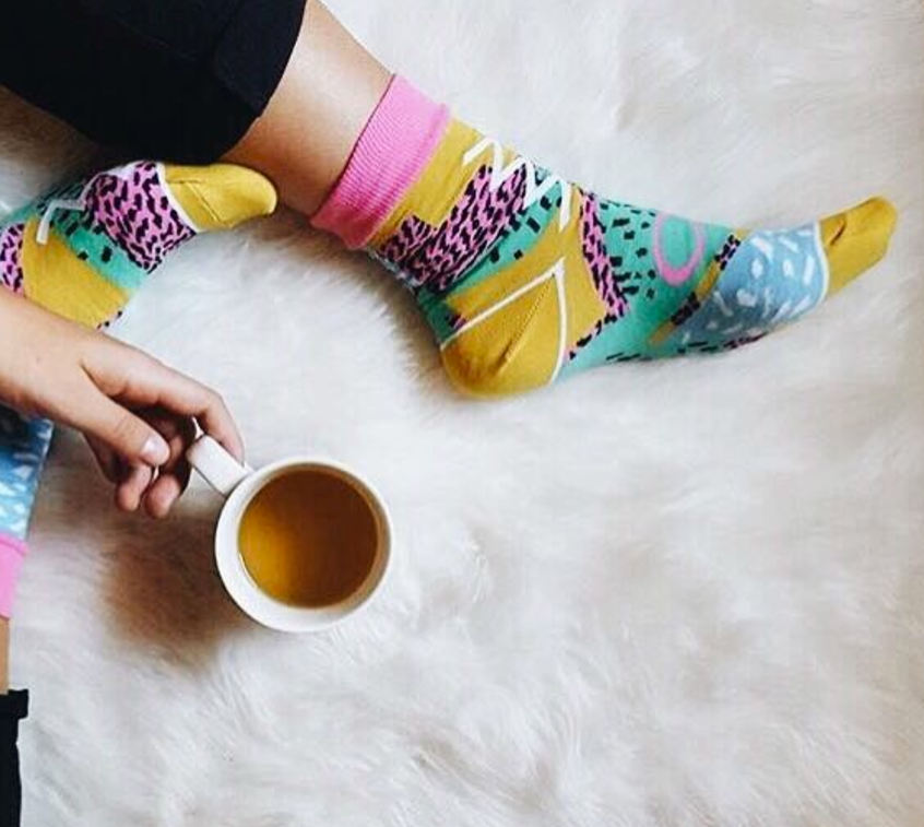 Socks and coffee