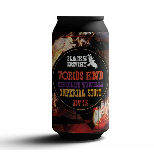 Blacks Brewery Worlds End Chocolate Vanilla Imperial Stout (440ml / 8%) (4684919504942)