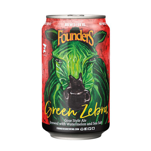 Founders Brewing Co. Green Zebra Gose Style Ale (355ml / 4.6%) (4685957267502)