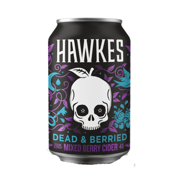 Hawkes Cider – Dead & Berried Mixed Berry Cider (330ml / 4%) (4604553658414)