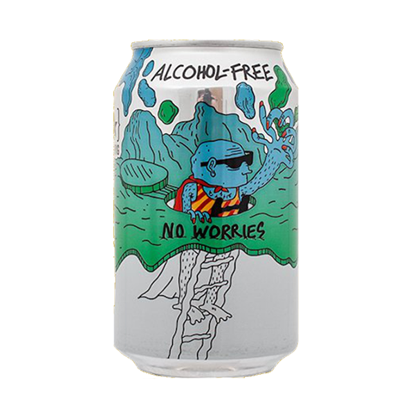 Lervig No Worries Alcohol Free IPA (330ml / 0.5%) (4641207812142)