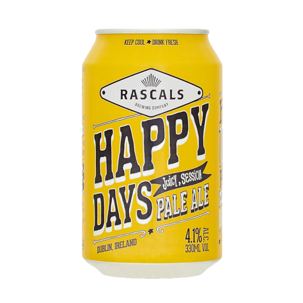 Rascals Happy Days Session Pale Ale (330ml / 4.1%) (4590569455662)