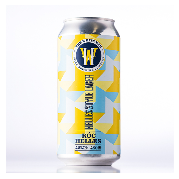 The White Hag Róc Helles Style Lager (440ml / 4.5%) (4663460069422)