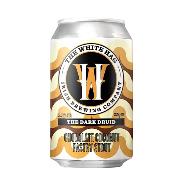 The White Hag The Dark Druid Chocolate Coconut Pastry Stout (330ml / 5.4%) (4680960933934)