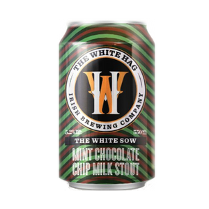 The White Hag – The White Sow Mint Chocolate Chip Milk Stout (330ml / 4.2%) (4704400900142)