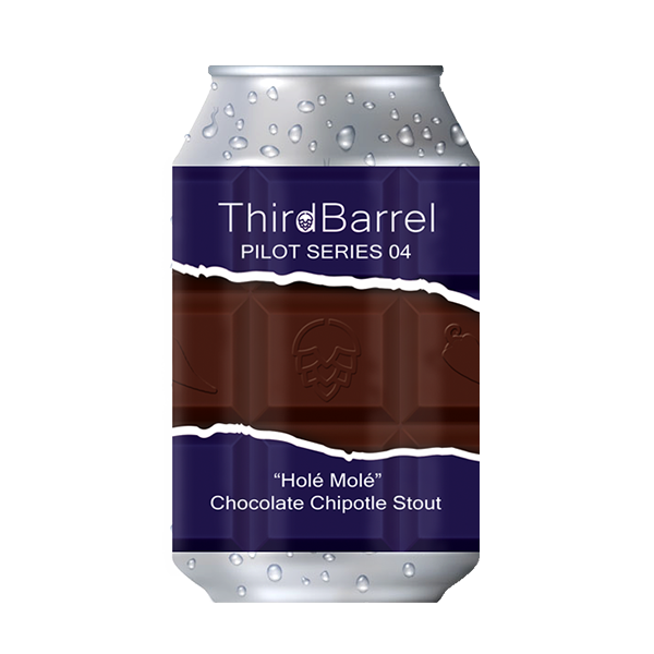 "Third Barrel Brewing Pilot Series No.4 ""Holé Molé"" – Chocolate Chipotle Stout (330ml / 6%) (4685568835630)"