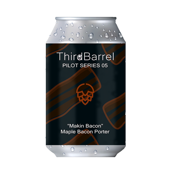 "Third Barrel Brewing Pilot Series No.5 ""Makin' Bacon"" – Maple Bacon Porter (330ml / 6%) (4685570015278)"