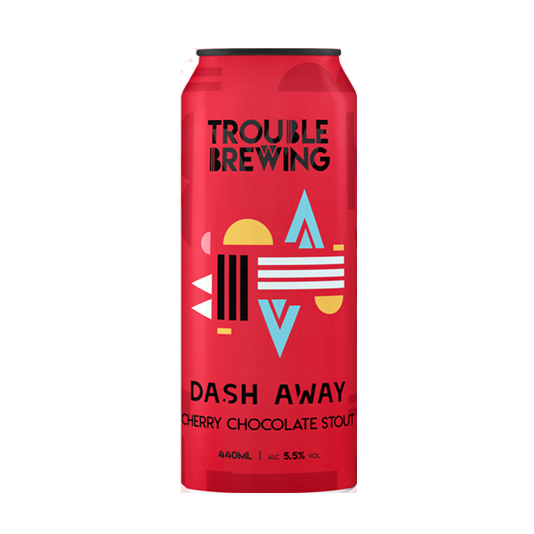Trouble Brewing Dash Away Cherry Chocolate Stout (440ml / 5.5%) (4688609935406)