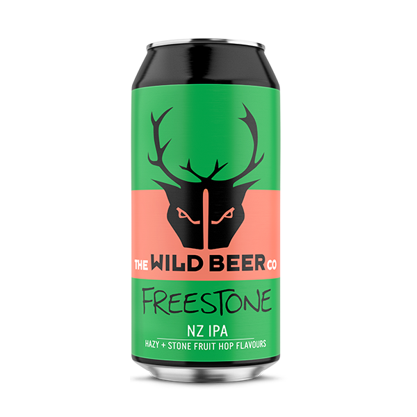 Wild Beer Co. Freestone NZ IPA – Hazy + Stone Fruits Hop Flavours (440ml / 5.8%) (4704389726254)