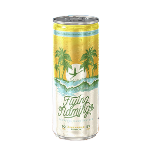 Flying Flamingo Tropical Hard Seltzer – Pineapple Punch (250ml / 5.5%) (4590573551662)