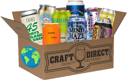 Around The World - 12 Can International Craft Beer Tasting Box (4653305036846)
