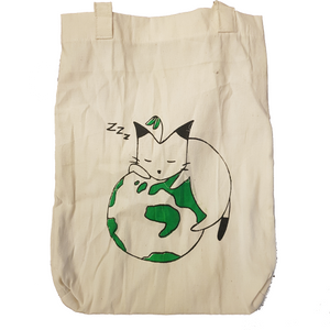 Canvas Tote Bag - Cat - Roots Collective PH