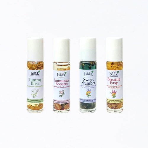 Bask Botanik Sampler Set (4 Essential Oil Rollers) - Roots Collective PH