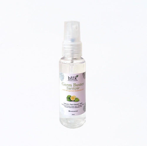 Bask Botanik Germ Buster Sanitizer - Bergamot - Roots Collective PH