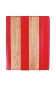 Vegan Leather iPad Case H in Red - Roots Collective PH
