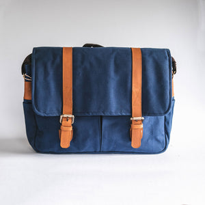 City Waxed Canvas Messenger Bag - Roots Collective PH