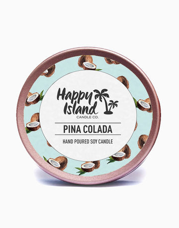 Scented Hand-Poured Soy Candle - Piña Colada - Roots Collective PH