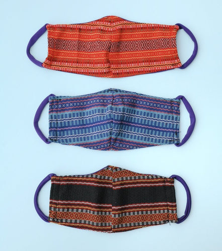 Reusable Face Mask with Filter Pocket - Inabel Weave - Roots Collective PH