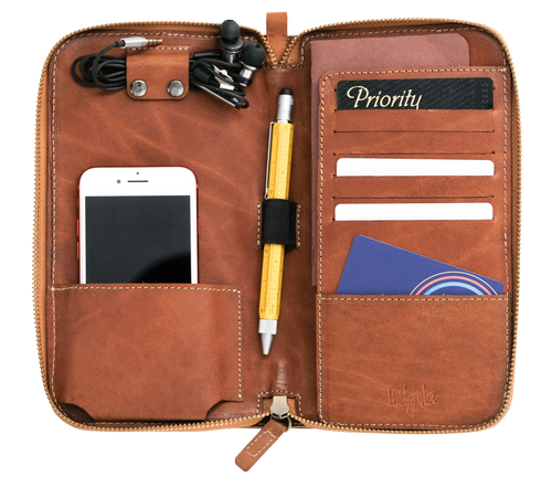 Kato Accountant Leather Travel Wallet - Roots Collective PH