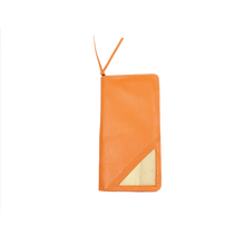 Load image into Gallery viewer, Bucket List Vegan Leather Travel Wallet in Orange - Roots Collective PH