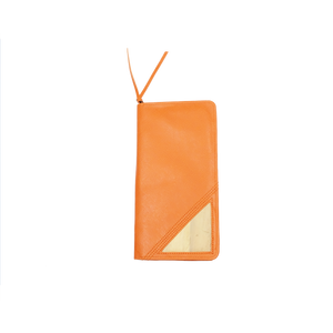 Bucket List Vegan Leather Travel Wallet in Orange - Roots Collective PH