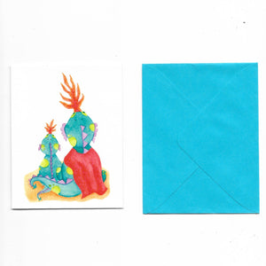 Patricias Watercolor Gift Card with Envelope (Dragon) - Roots Collective PH