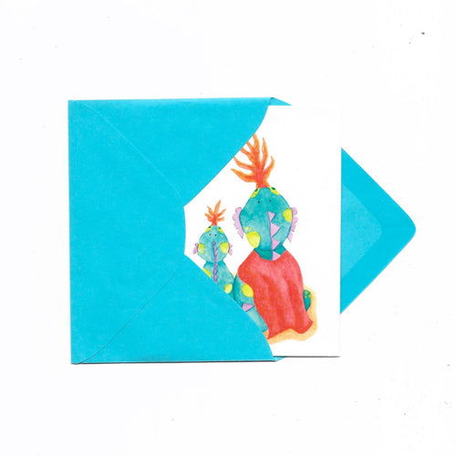 Watercolor Gift Card with Envelope (Dragon) - Roots Collective PH
