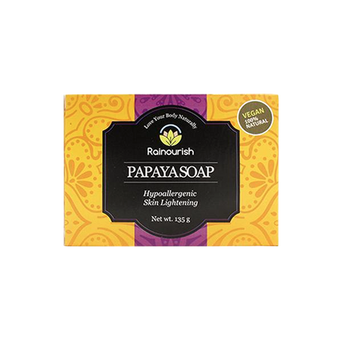 Rainourish Papaya Soap Bar (145g) - Roots Collective PH
