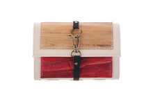 Load image into Gallery viewer, Artisan II Vegan Leather Dual-Cover Notebook Case in Cream & Antique Red (Mini)-Fashion Accessories-Jacinto & Lirio-Roots Collective PH